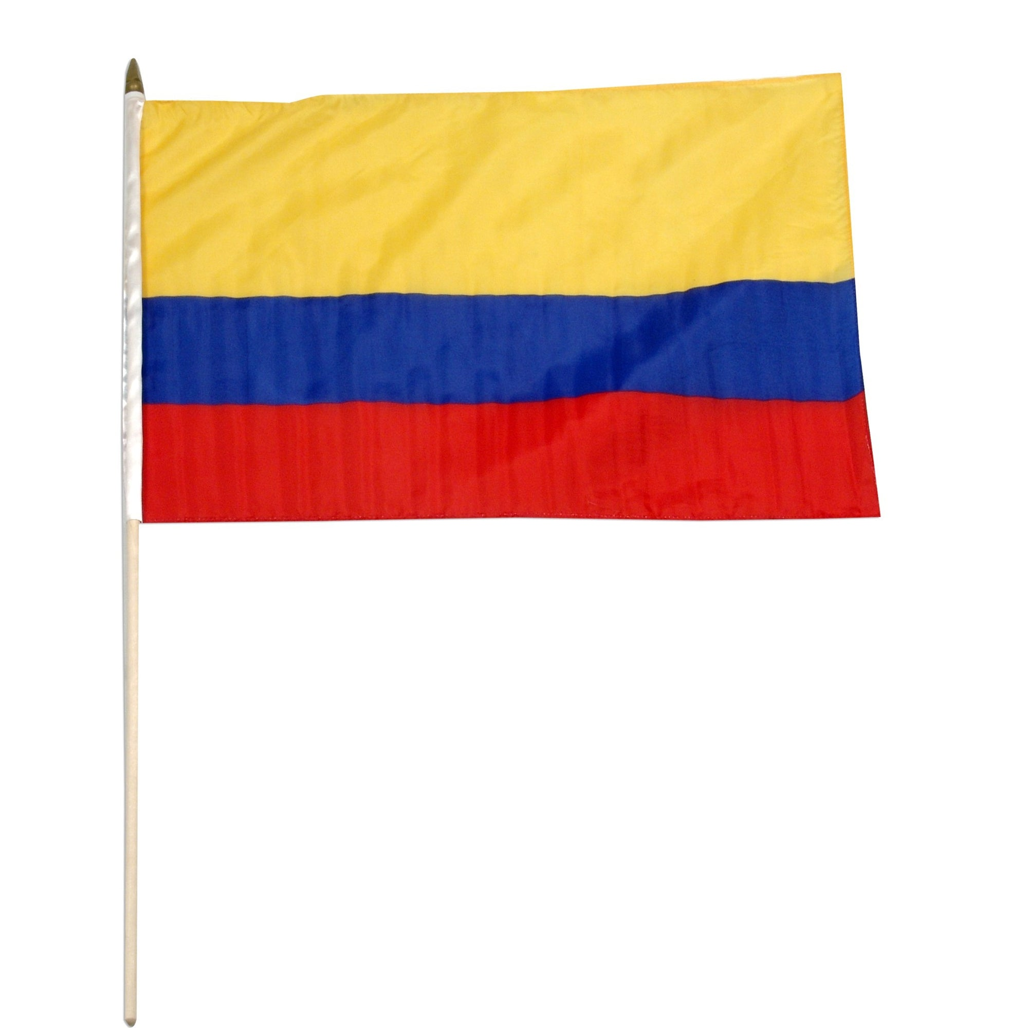 "Colombia 12"" x 18"" Mounted Flag"