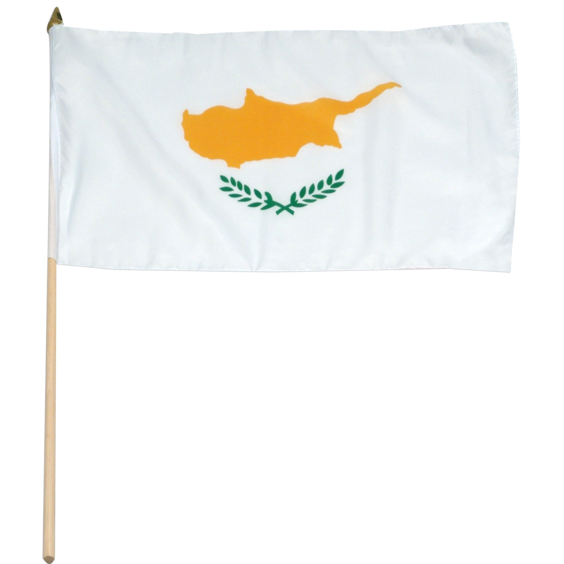 "Cyprus 12"" x 18"" Mounted Flag"