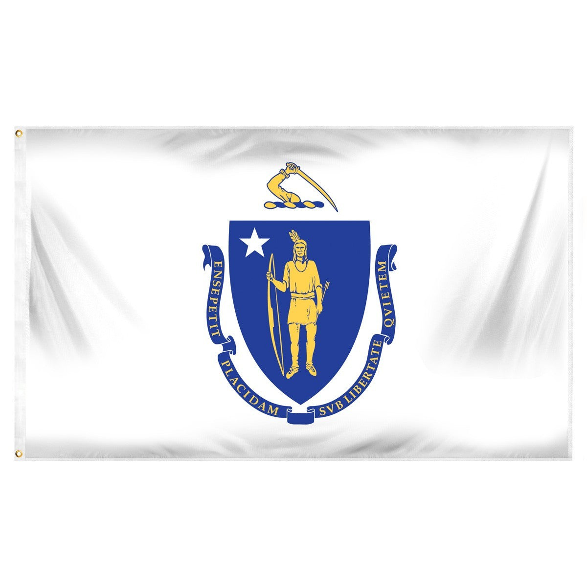 Massachusetts  3' x 5' Indoor Polyester Flag