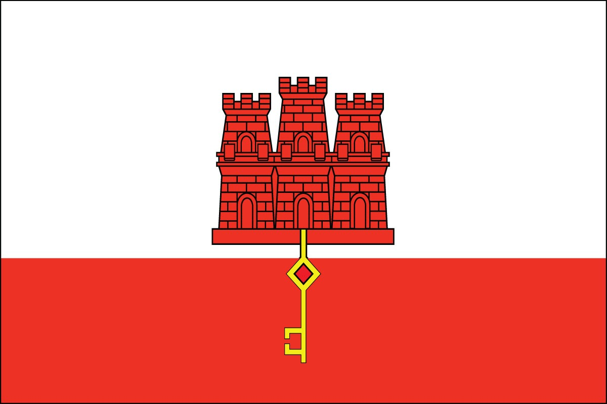 "Gibraltar 12"" x 18"" Mounted Stick Flag"