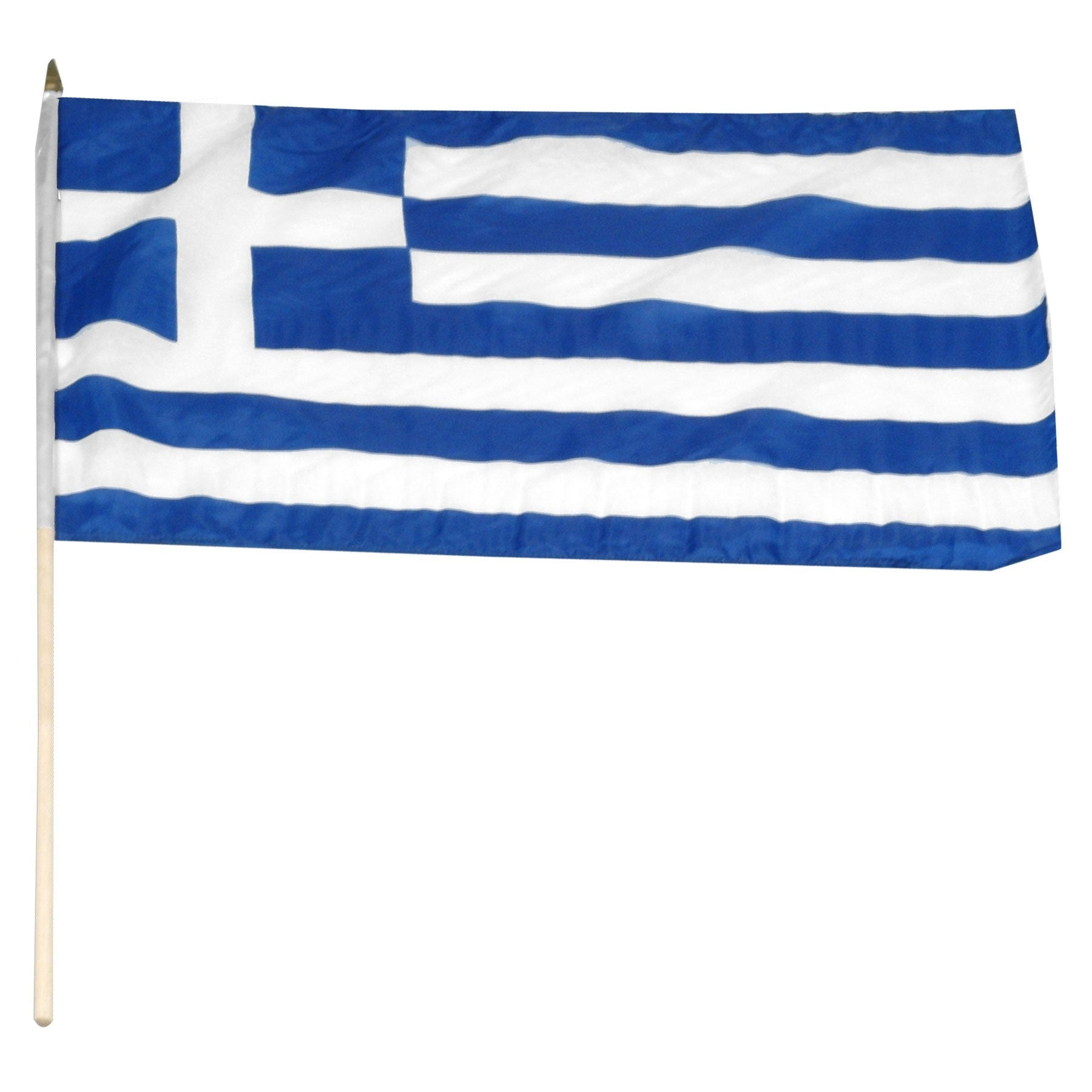 "Greece 12"" x 18"" Mounted Stick Flag"