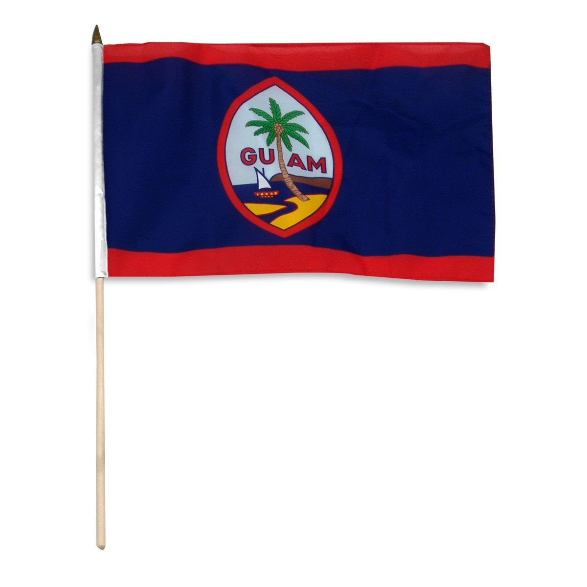 "Guam 12"" x 18"" Mounted Flag"