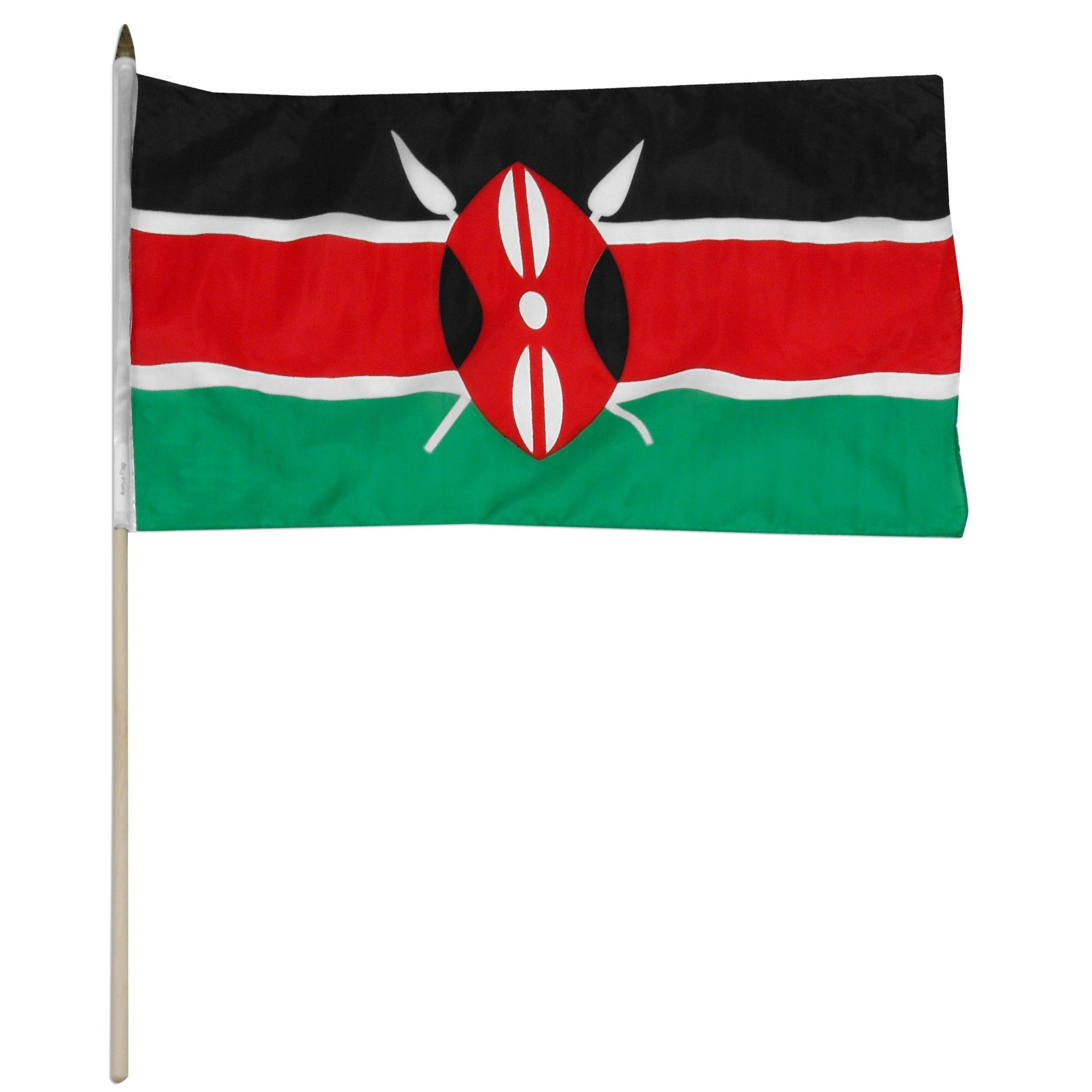 "Kenya 12"" x 18"" Mounted Flag"