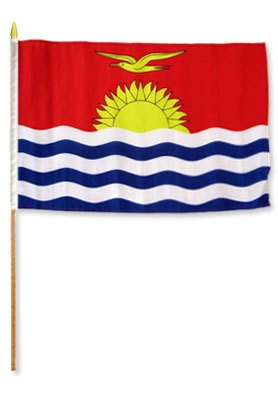"Kiribati 12"" x 18"" Mounted Flag"