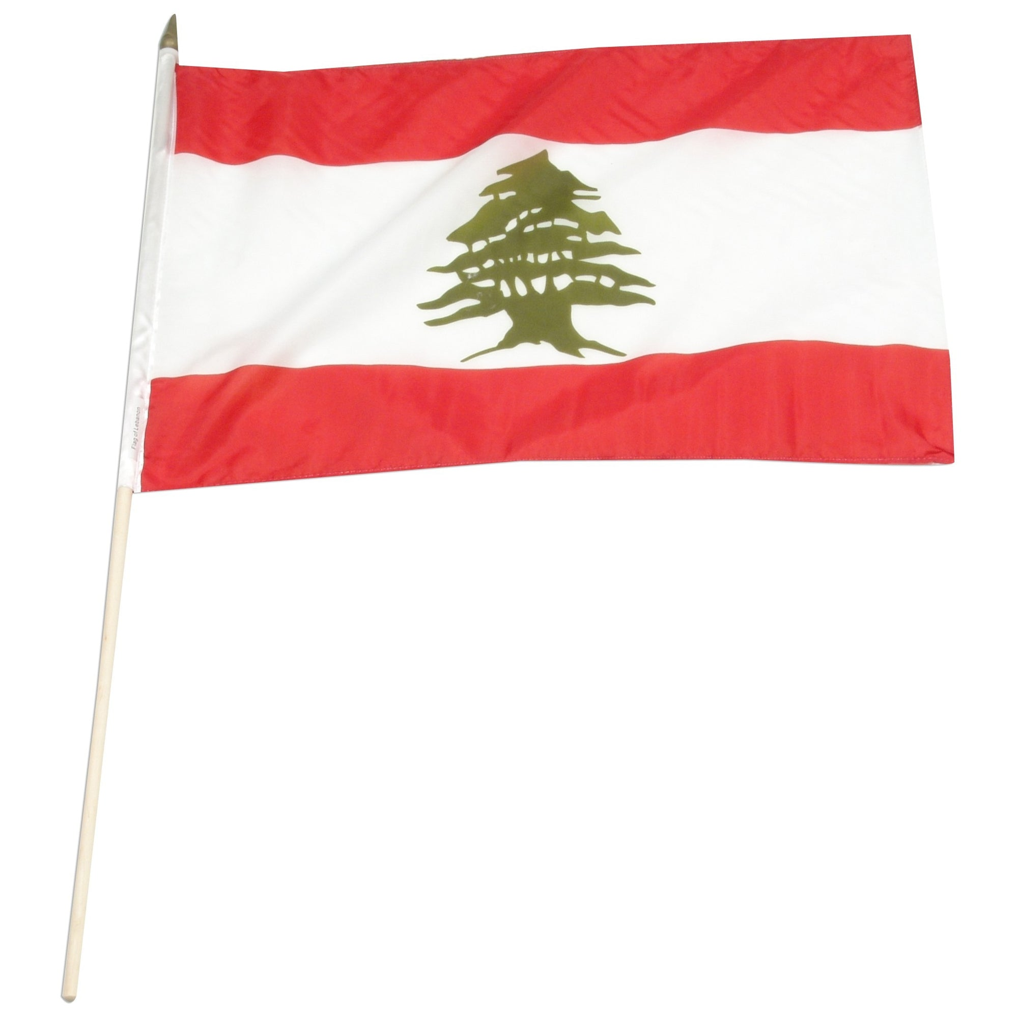 "Lebanon 12"" x 18"" Mounted Flag"