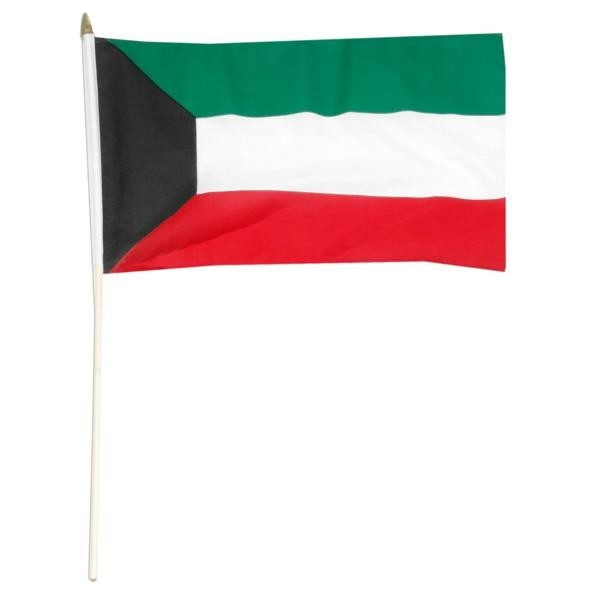 "Kuwait 12"" x 18"" Mounted Flag"