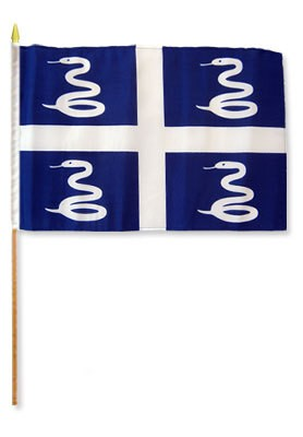"Martinique 12"" x 18"" Mounted Flag"