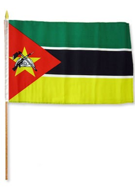 "Mozambique 12"" x 18"" Mounted Flag"
