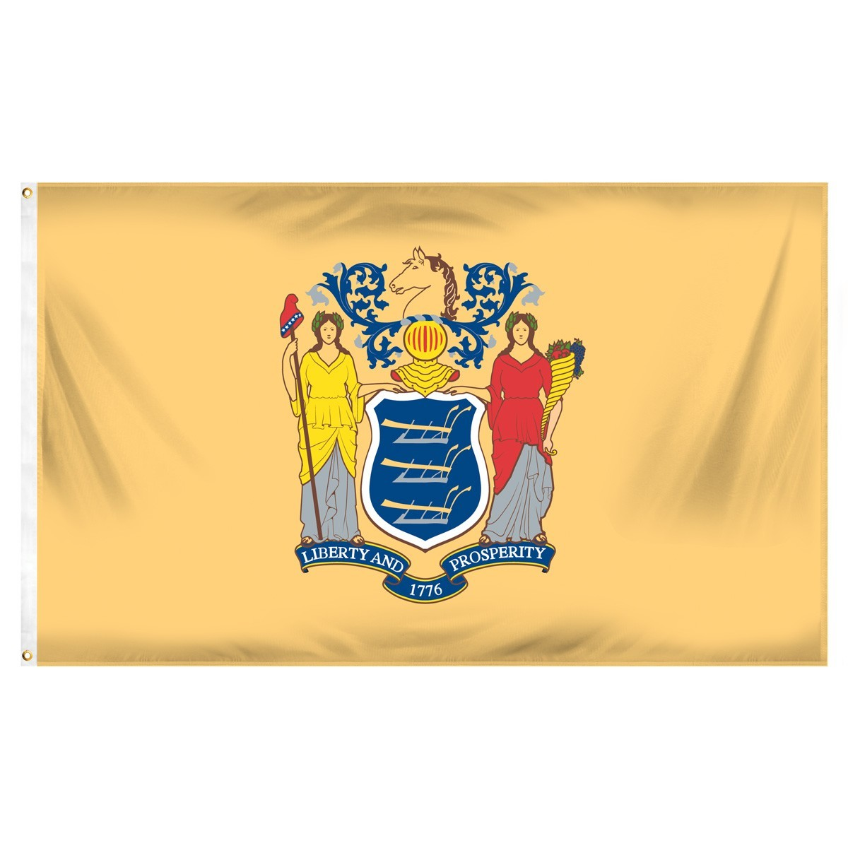 New Jersey  3' x 5' Indoor Polyester Flag