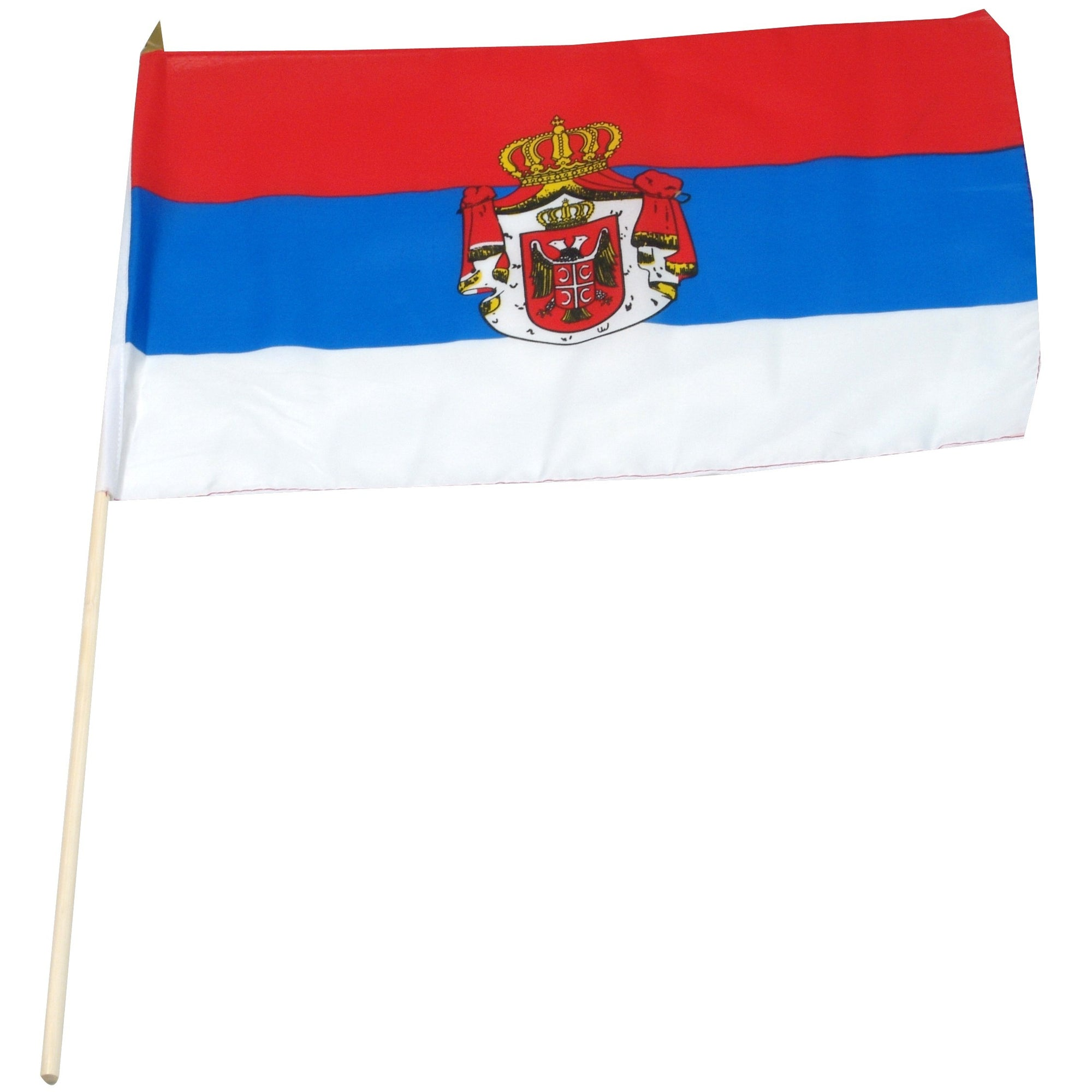 "Serbia 12"" x 18"" Mounted Flag"
