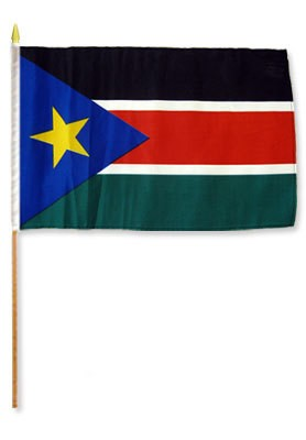 "South Sudan 12"" x 18"" Mounted Flag"