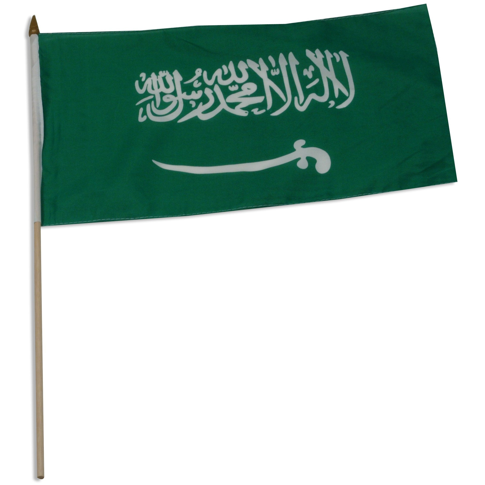 "Saudi Arabia 12"" x 18"" Mounted Flag"