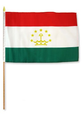 "Tajikistan 12"" x 18"" Mounted Flag"