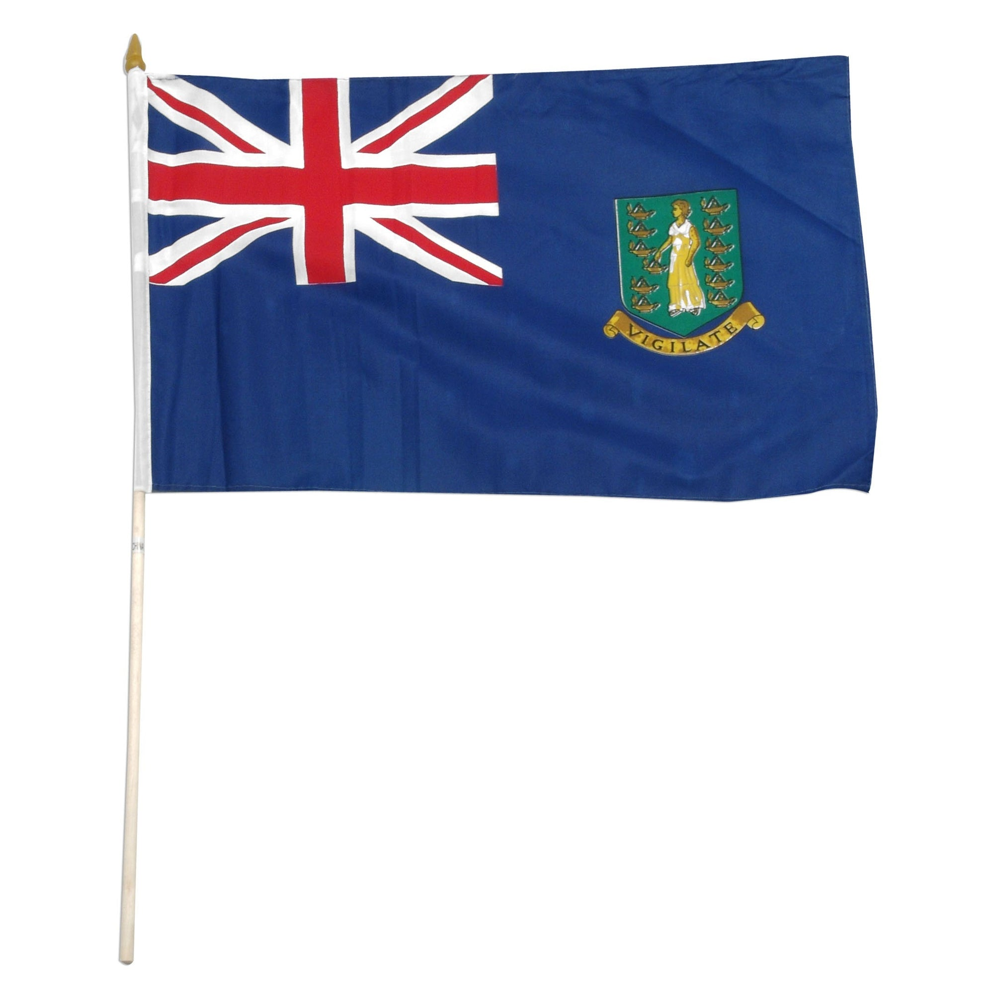 "British Virgin Islands 12"" x 18"" Mounted Territory Flag"