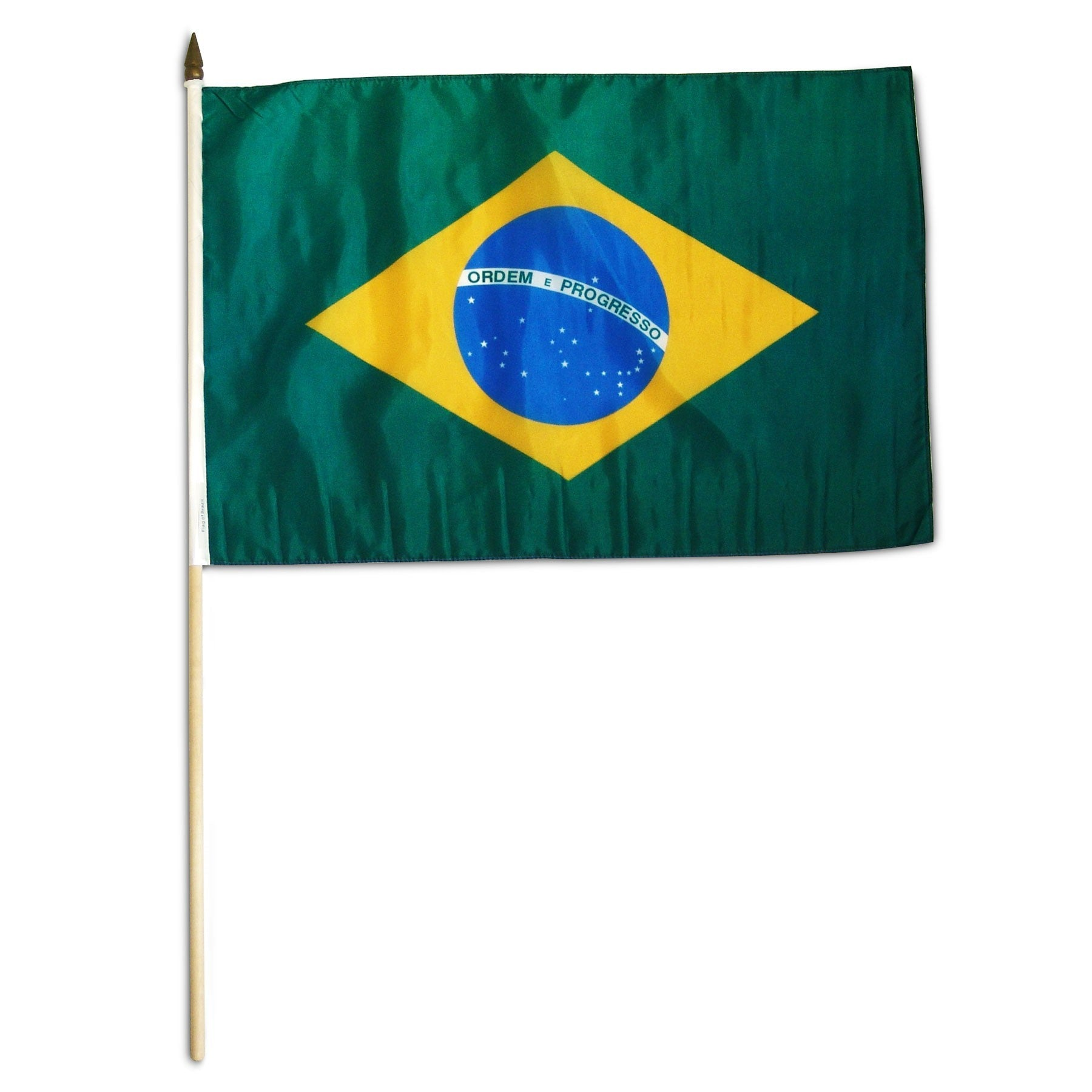 "Brazil 12"" x 18"" Mounted Country Flag"