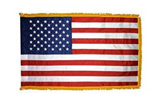 US Indoor Flags With Gold Fringe