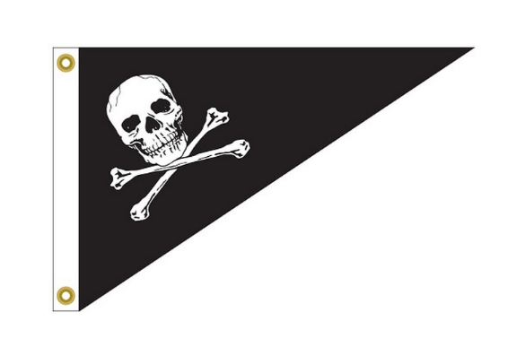 Jolly Roger-Pirate Outdoor Nylon Bow Pennant