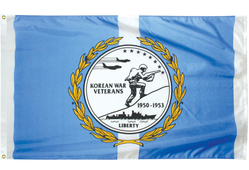 Korean War 3' x 5' Outdoor Veterans Commemorative Flags