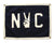 """NYC"" Camp Flag Quote Felt Flags, Home Gallery, Wall Art, Classroom Decor"