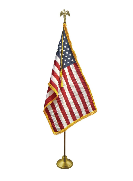 Nylon 2x3 US Flag with Oak Flag pole