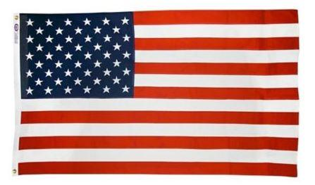 REPUBLIC Polyester/Cotton Blend USA Flag