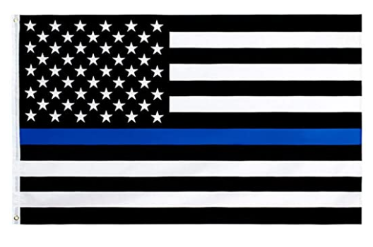 Thin Blue Line American Flag High Quality Outdoor Nylon Flag With Grommets