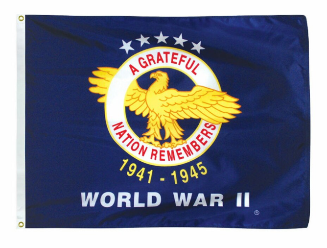 World War II 3' x 5' Outdoor Veterans Commemorative Flags