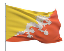 Bhutan 3' x 5' Indoor Polyester Country Flag