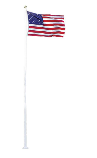 Fiberglass Commercial 20foot Flagpoles with External Halyards