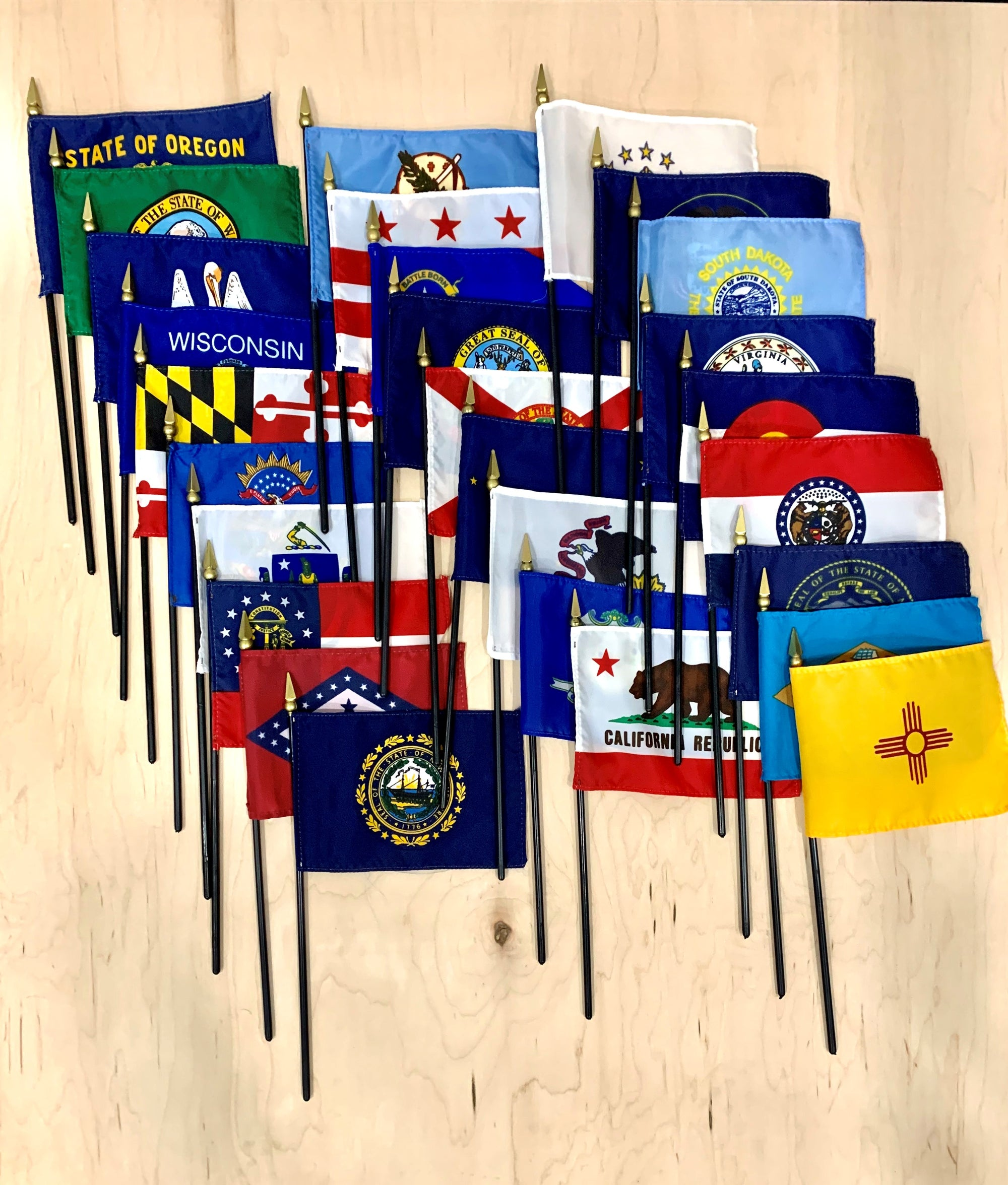 Complete Set of 50 State Flags