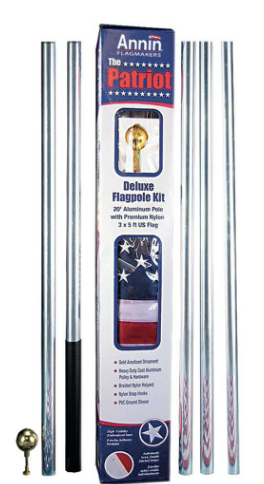 Annin Residential Flagpole - The Patriot 20 foot Aluminum Flag pole