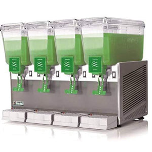 AMPTO C1456 Beverage Dispenser 4 Tanks - 2.4 Gallons ea. NSF/UL. Made in Italy