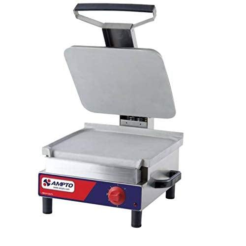 AMPTO SASL Single Sandwich Grill 12'' x 13-3/4'' Flat