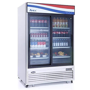 "MCF8709GR Refrigerator Merchandiser, two-section, 54-2/5""W x 29-7/10""D x 81-1/5""H, bottom-mount self-contained"