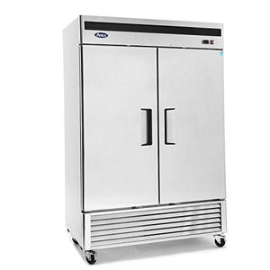 "MBF8507GR Atosa Refrigerator, reach-in, two-section, 54-2/5""W x 31-7/10""D x 83-1/10""H, bottom-mount self-conta"