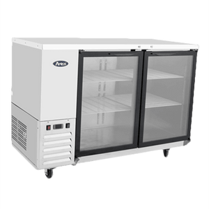 "MBB59-GR Atosa Back Bar Cooler, two-section, 57-3/4""W x 28-1/8""D x 40-1/8""H, self-contained side mount refrig"