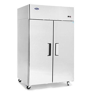 "MBF8002GR Atosa Freezer, reach-in, two-section, 51-7/10""W x 31-7/10""D x 81-3/10""H, top mount self-contained re"