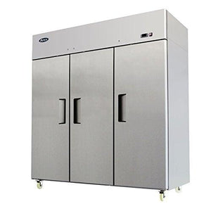 "MBF8006GR Atosa Refrigerator, reach-in, three-section, 77-4/5""W x 31-7/10""D x 81-3/10""H, top mount self-contai"