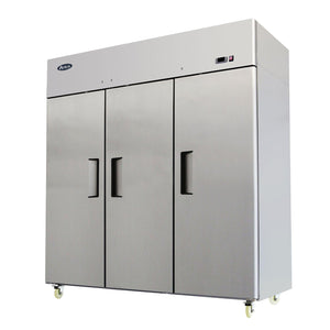 "MBF8003 Atosa Freezer, reach-in, three-section, 77-4/5""W x 33-3/10""D x 83""H, top mount self-contained refrig"