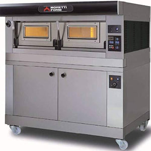 MORETTI FORNI P120 A1 Electric Pizza Oven P120 49'' x 26'' x 7'' (Chamber) 208/240/60/3-1 Deck with tray guide base