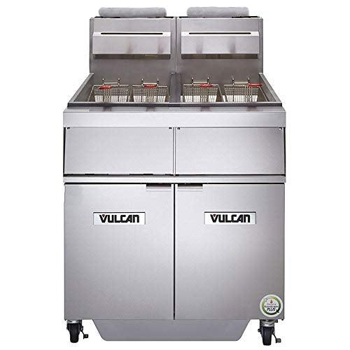 Vulcan 2GR45MF Gas Fryer - (2) 50-lb Vats, Floor Model, NG
