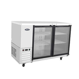 "MBB48G-GR Atosa Back Bar Cooler, two-section, 48""W x 28-1/8""D x 40-1/8""H, self-contained side mount refrigerat"