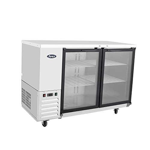 MBB48G-GR Atosa Back Bar Cooler, two-section, 48