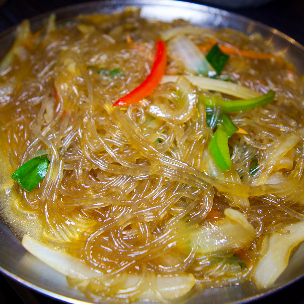잡채 Glass Noodles with Sauteed Vegetables