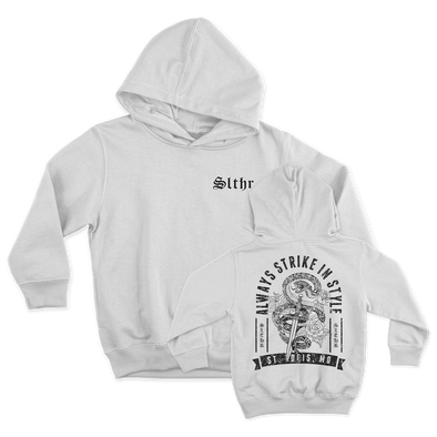 Kids Faithful Dagger Winter White Hoodie