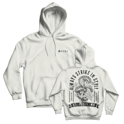 Faithful Dagger Winter White Hoodie