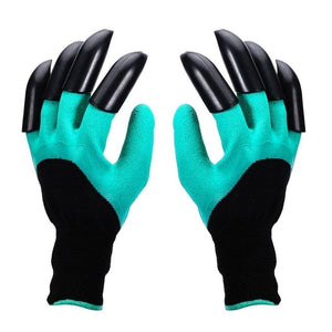 4/8 Hand Claw ABS Plastic Garden Rubber Gloves Gardening Digging Planting Durable Waterproof Work Glove Outdoor Gadgets 2 Style