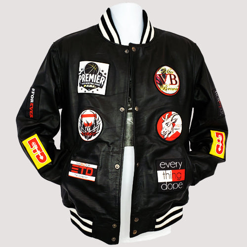 ETD Leather Logo Jacket