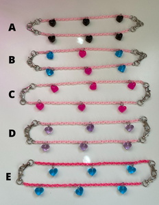 Candy-Colored Heart Linklets - PAIR
