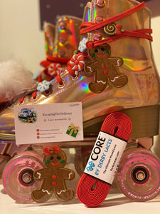 Gingerbread Roller Skate Lace Accessory Bundle